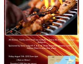 Nro 3 kilpailuun BBQ invite flyer käyttäjältä rahul1601