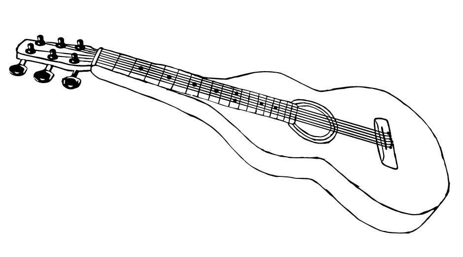 Konkurrenceindlæg #34 for B&W vector sketch drawing of a guitar from photo