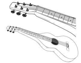 #27 untuk B&W vector sketch drawing of a guitar from photo oleh skewness888