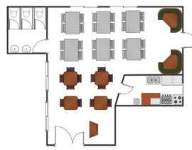 indrans tarafından Please think a best floor plan for a new restaurant ( no Design) için no 10