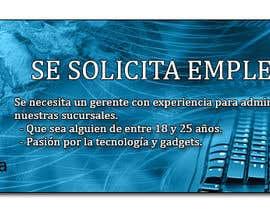 Nro 43 kilpailuun Diseñar un banner de Solicitud de Empleado käyttäjältä MateoEd