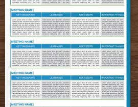 Nro 5 kilpailuun Design a newsletter template for briefing on activities. käyttäjältä ElegantConcept77
