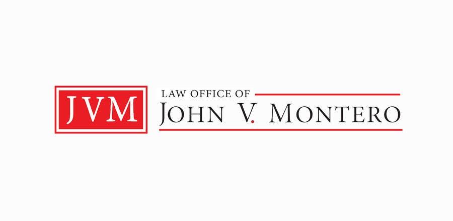 Penyertaan Peraduan #138 untuk Logo Design for Law Office of John V. Montero
