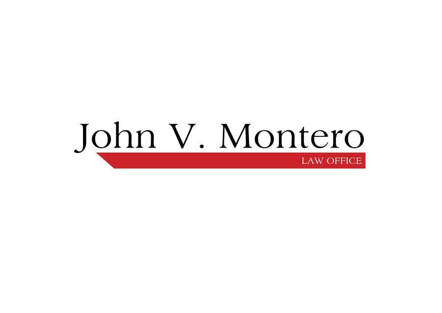Penyertaan Peraduan #58 untuk Logo Design for Law Office of John V. Montero