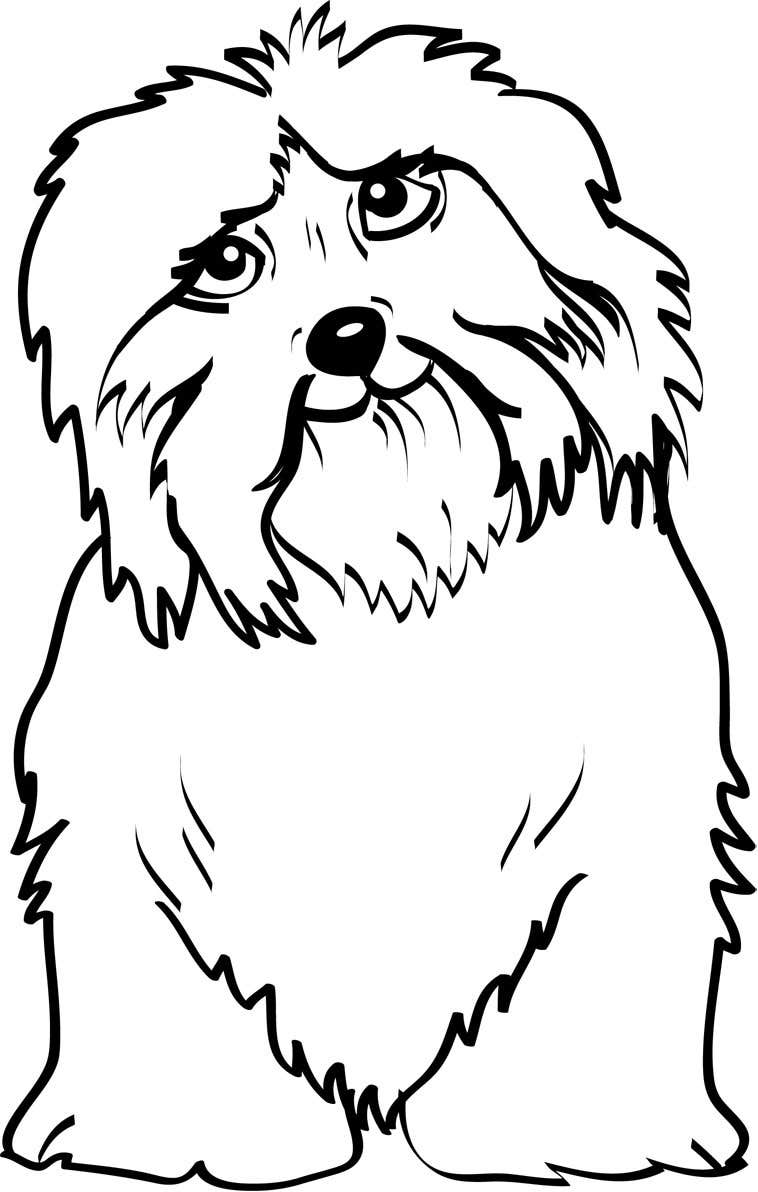 #20 for Logo / Drawing / Illustration of a dog by debrajmaity