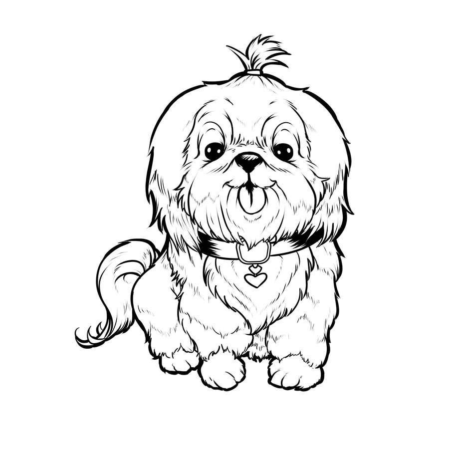 #7 for Logo / Drawing / Illustration of a dog by kawashimadesigns