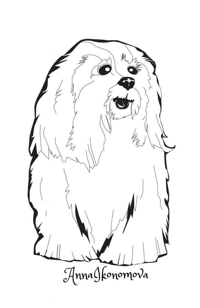 #35 for Logo / Drawing / Illustration of a dog by annaikonomova