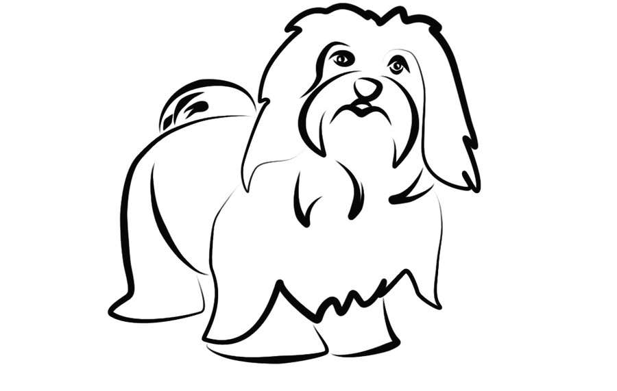 #32 for Logo / Drawing / Illustration of a dog by malathy27