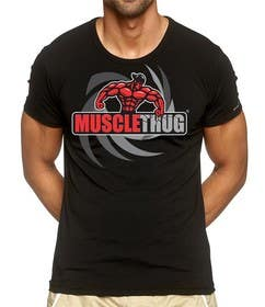 #33 untuk Design a T-Shirt for our althletic brand Muscle Thug oleh eltorozzz