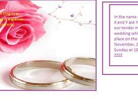 Nro 10 kilpailuun Wedding Invitation Wordings (Hindu,India) käyttäjältä elenagandzyuk