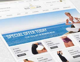 #80 para Design a Website Mockup for Elite Yoga Gear por decapro