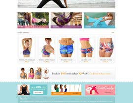 #128 para Design a Website Mockup for Elite Yoga Gear por Pavithranmm