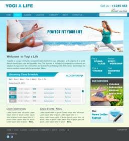 #123 for Design a Website Mockup for Elite Yoga Gear by bestatall