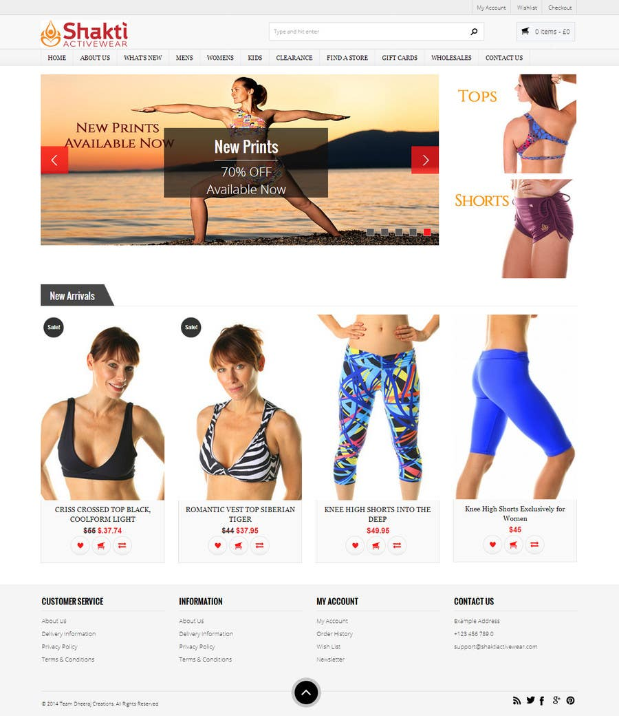 #79 for Design a Website Mockup for Elite Yoga Gear by dheerajrao
