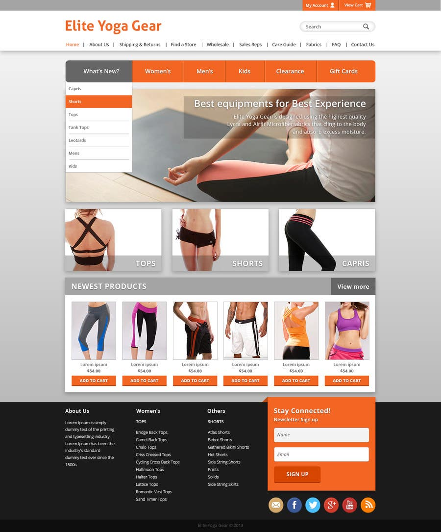 #51 for Design a Website Mockup for Elite Yoga Gear by alexisbigcas11
