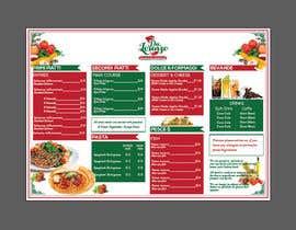 Nro 19 kilpailuun Italian Restaurant menu käyttäjältä tinrys