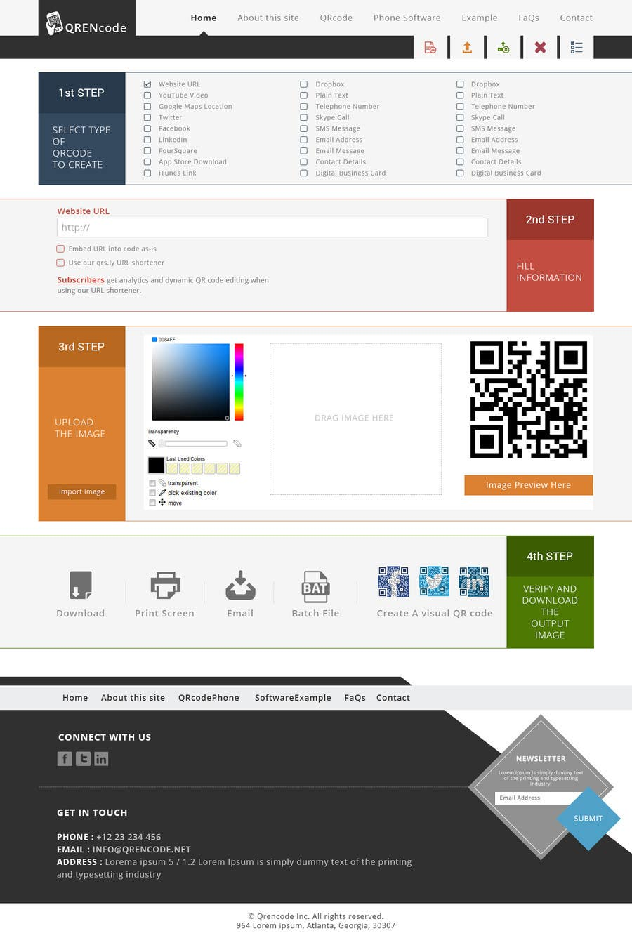 #54 for Design a Website User Interface for QRcode generation company by manishb1