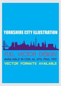 rajputdesigns tarafından Yorkshire Skyline Illustration için no 2