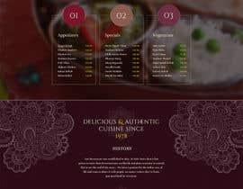 Nro 10 kilpailuun website design for an indian restaurant käyttäjältä Darkknlght
