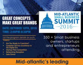 m99 tarafından Design a Flyer for the Mid-Atlantic Small Business Summit 2016 için no 7