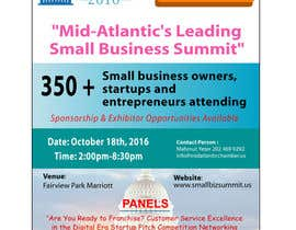 monjumia1978 tarafından Design a Flyer for the Mid-Atlantic Small Business Summit 2016 için no 23