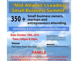 monjumia1978 tarafından Design a Flyer for the Mid-Atlantic Small Business Summit 2016 için no 24