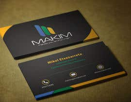 nº 46 pour Design Business Cards for MAKIM par mamun313
