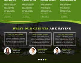 Nro 25 kilpailuun Homepage Design Mockup käyttäjältä sevenservices
