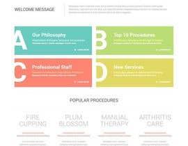 PandaLabo tarafından Design a Website Mockup For an Acupuncture Clinic için no 10
