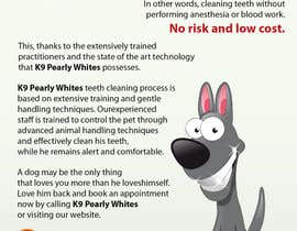 #33 untuk Flyer Design for K9 Pearly Whites [K9PW.com] oleh artleo