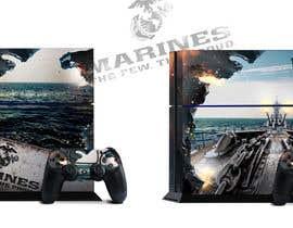 Nro 14 kilpailuun Illustrate a graphic with a Marines theme for a PS4 and xbox one console skin käyttäjältä AFilipenko
