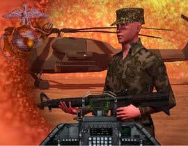 Nro 1 kilpailuun Illustrate a graphic with a Marines theme for a PS4 and xbox one console skin käyttäjältä Joshart