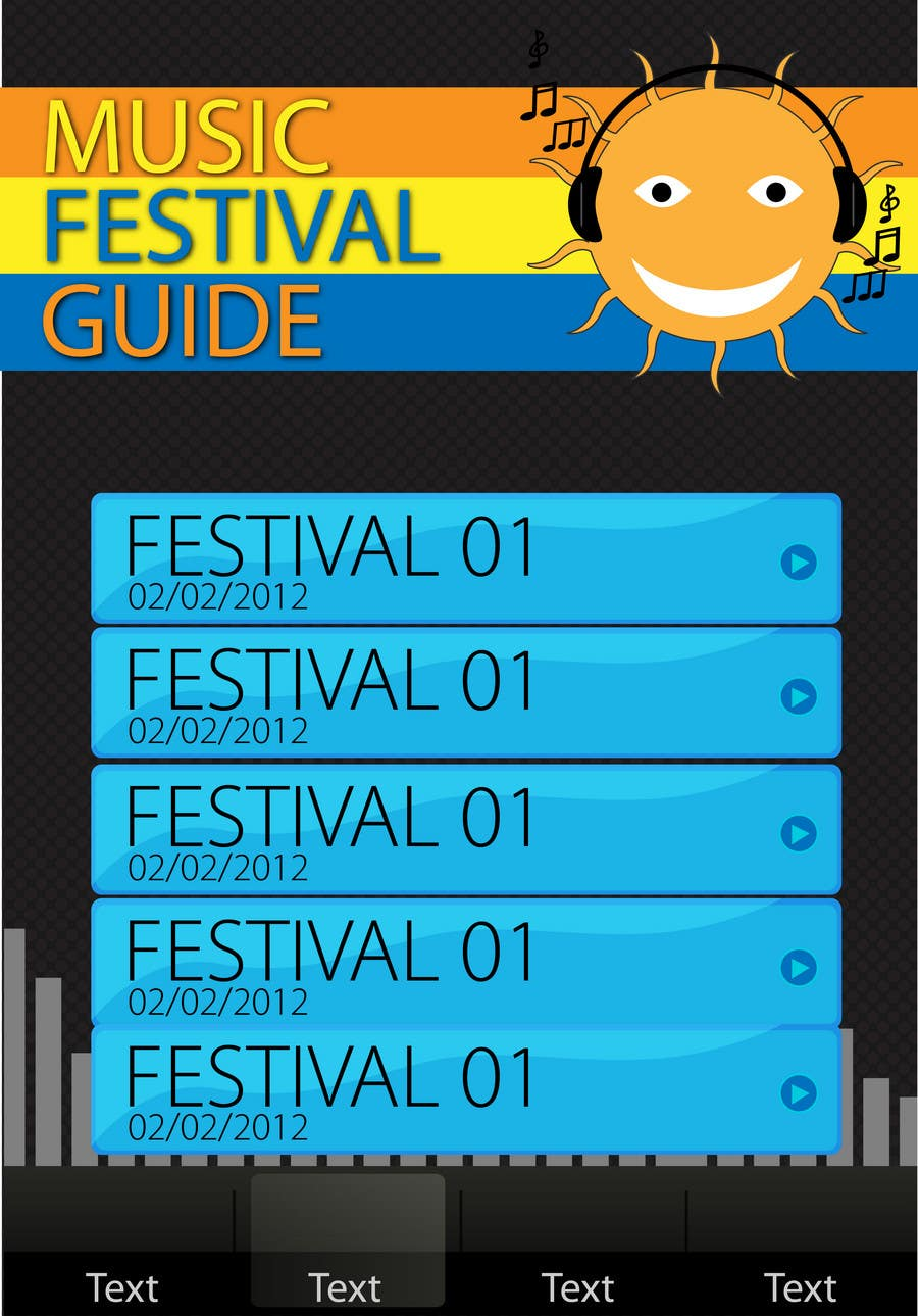 Contest Entry #2 for Graphic Design for Music Festival Guide (iPhone Application)