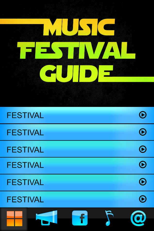 Photography Contest Entry #14 for Graphic Design for Music Festival Guide (iPhone Application)