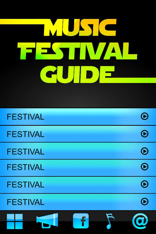 Contest Entry #13 for Graphic Design for Music Festival Guide (iPhone Application)