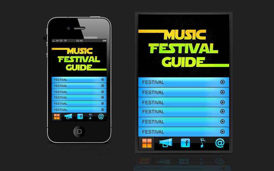 Contest Entry #15 for Graphic Design for Music Festival Guide (iPhone Application)