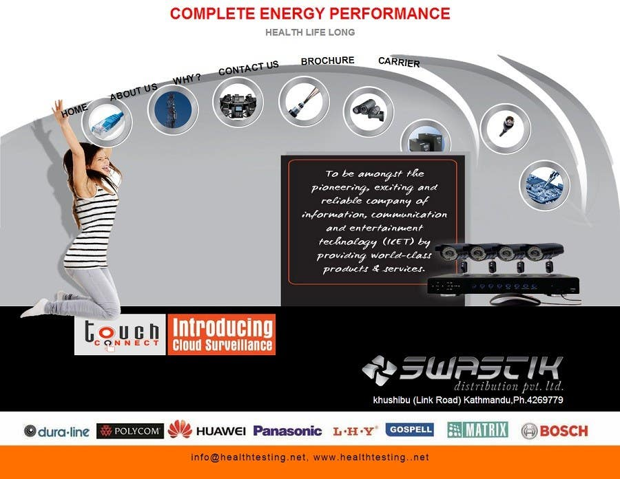 Contest Entry #7 for Design a Website Mockup for energy performance