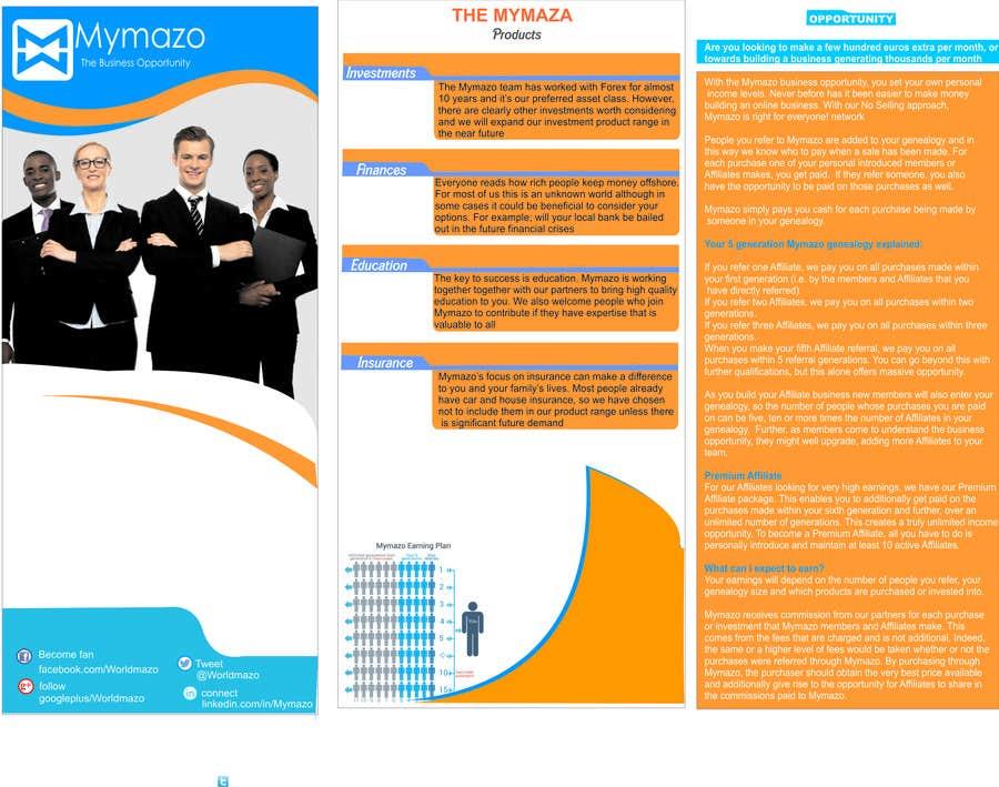 Bài tham dự cuộc thi #11 cho Design a Brochure for network pay plan