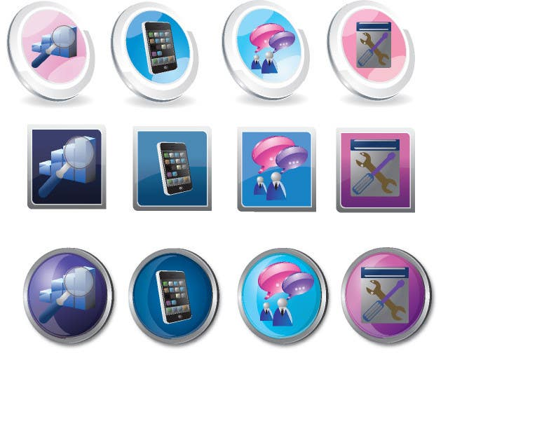 #19 for Button Design for Homepage Icons by amproductions