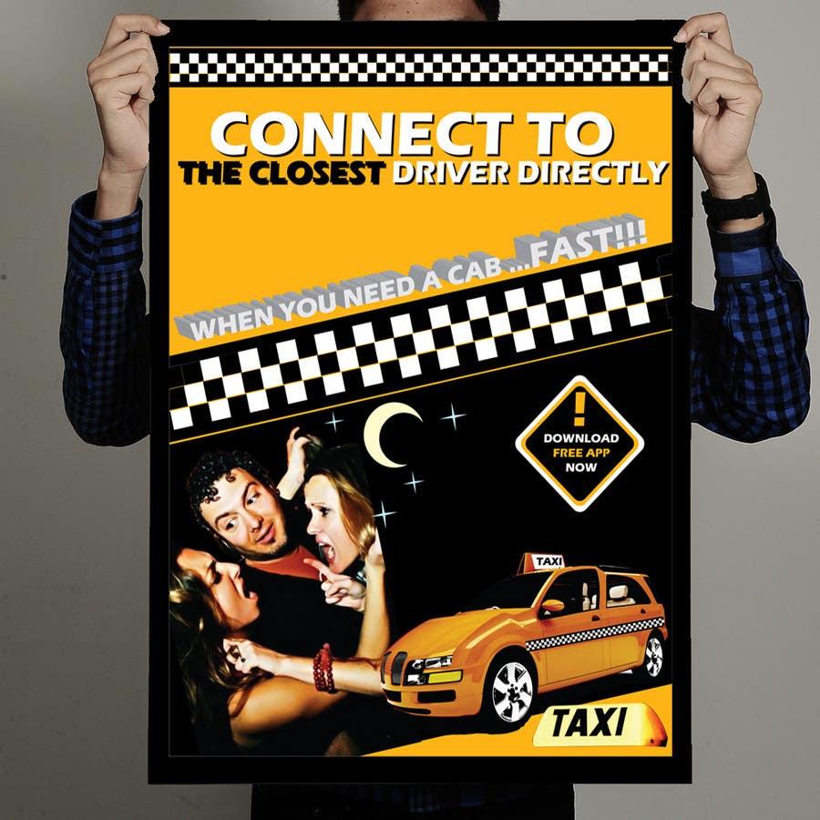 Inscrição nº 31 do Concurso para Advertisement Design for this will be a poster for a taxi cab app