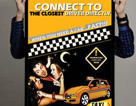 #31 for Advertisement Design for this will be a poster for a taxi cab app af gau7920
