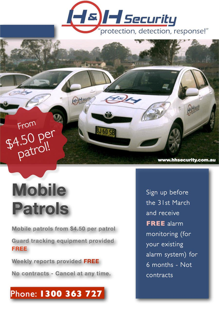 #37 for Design a Flyer for Mobile Patrol promotion by lachlan00