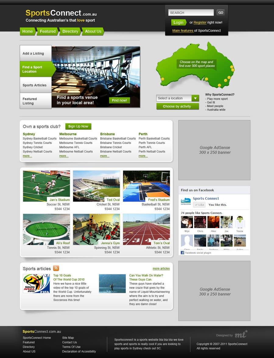 Inscrição nº 91 do Concurso para Website Design for Sportsconnect