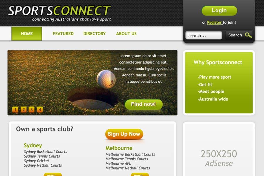 Inscrição nº 54 do Concurso para Website Design for Sportsconnect