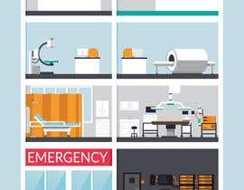Nro 17 kilpailuun Hospital Infographic käyttäjältä jessebauman