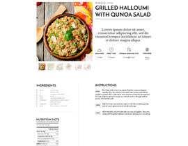 Nro 3 kilpailuun Re-design recipe page käyttäjältä olanloco
