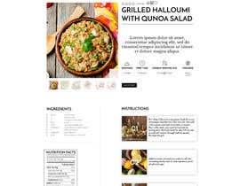 Nro 8 kilpailuun Re-design recipe page käyttäjältä olanloco