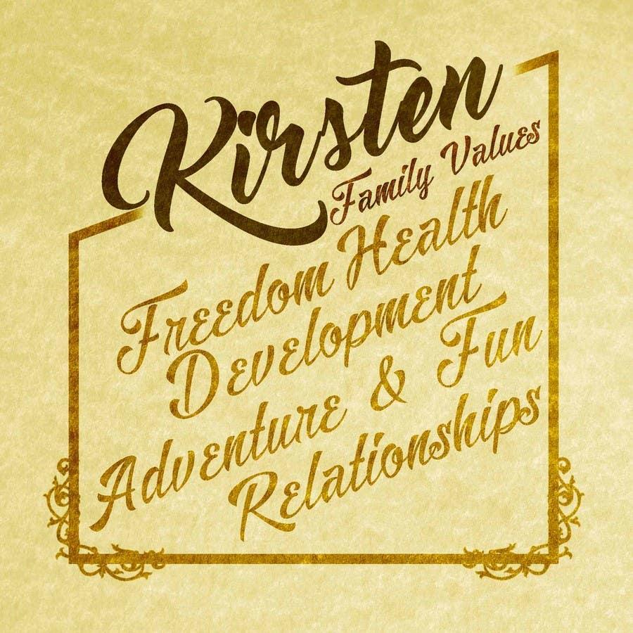 Kilpailutyö #13 kilpailussa Design a Banner for our Family Values