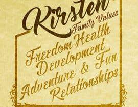Nro 13 kilpailuun Design a Banner for our Family Values käyttäjältä jeffnelshabong