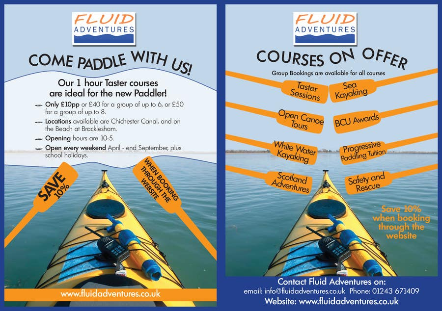 #16 for Design a Flyer for Kayaking Company by bevparr